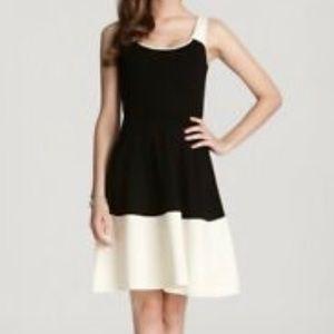 Kate Spade Black Cream Dress Sz Lg Constance Wool